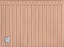 """Regency Plum Stripe"" miniature wallpaper Jackson's Miniatures dollhouse 1p JM04"