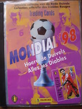 PANINI  COMPLETE BINDER + ALL 100 TRADING CARDS MONDIAL 98 RED DEVILS