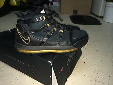 Lebron Zoom 3 Gold Black Custom Rare Mens Sz 11 Good Condition See Pics