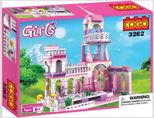 Construction Building Toy Princess Castle Lifelike Birthday Party Gift 250 Piece