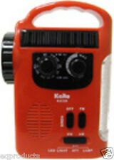New Kaito Solar Lantern AM FM Radio Flashlight Crank For Camping or Emergency!