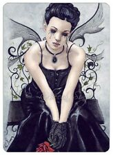 Gothic Fairy Fantasy Art ACEO PRINT Victorian Rose Tears Corset Ivy Sad