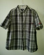 Fantastic DICKIES Size 2XL Plaid Cotton Shirt W/Button Pocket