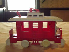 "VINTAGE USA TOY TROLLEY TRANSIT CO 9 1/2"" LONG PLASTIC TRAIN"