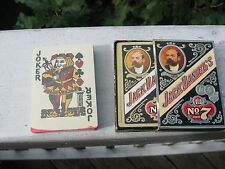 Jack Daniel's Collectible playing cards Brand # 7 Two decks( one sealed)