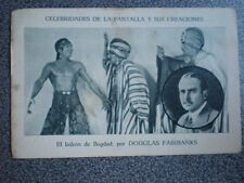 CROMO ANTIGUO DE CINE DOUGLAS FAIRBANKS  PUBLICIDAD ZARAGOZA JOSÉ LAGUNA