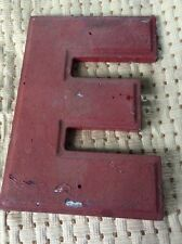 "Vintage Theater Marquee Cast Letter ""E"" Wagner Sign Service Inc 10 Inch"