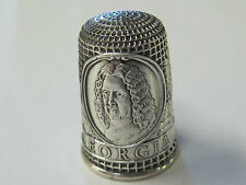 GEORGIA - COLONIAL AMERICA FRANKLIN MINT STERLING SILVER THIMBLE - MINT