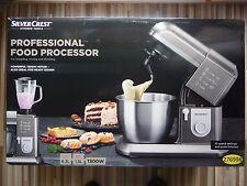 Nueva Máquina de Cocina Profesional SilverCrest 1300w Procesador De Alimentos Mezclador De Batidora