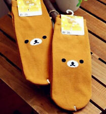 FD4305 Cartoon Rilakkuma San-X Relax Bear Cotton Soft Socks 23-25cm 1 Pair ♫
