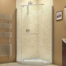 "NEO ANGLE 40"" x 40"" x 72"" DREAMLINE PRISM 3/8"" CORNER SHOWER FRAMELESS ENCLOSURE"