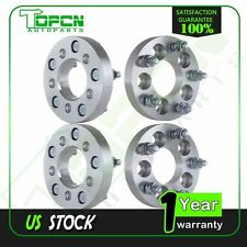 "(4)  5x100 Vehicle to 5x4.5 Wheel 1"" Wheel Spacers Adapters 5lug 12x1.5 studs"