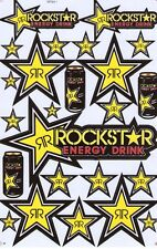 New Rockstar Energy Motocross ATV Racing stickers/decals. 1 sheet. (st78)
