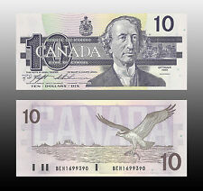 Canada 1989 (ten) $10 Dollar Bill Canadian Note Mint Uncirculated CRISP