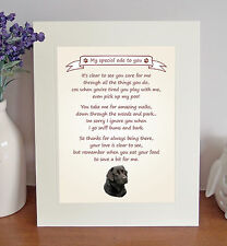 """Labrador (Black) 10"""" x 8"""" Free Standing 'Thank You' Poem Fun Gift FROM THE DOG"""