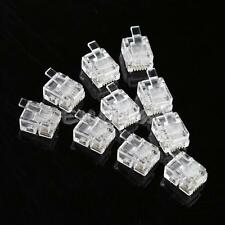 100 PCS 4 Pin RJ11 6P4C Modular Telephone Cell Phone Cord Lan Network Connector