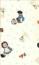 "OOP!!RAGGEDY ANN/ANDY TOSSED TOYS COTTON FABRIC FQ - 18""X22"""