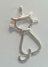 Sterling Silver Cat Silhouette Pendant