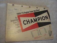 1966-1973 Champion Spark Plug Engine Tune-Up Chart for Cars & Light Trucks