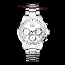 AUTHENTIC GUESS LADIES' SUNRISE WATCH SILVER TONE RRP:$379 U0330L3 Brand New