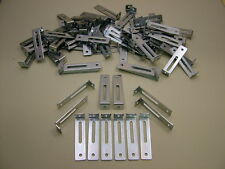 """Pack of 100 adjustable kitchen unit cabinet fixing """"L"""" brackets 76 x 18 x 15mm"""