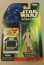 Star Wars Power Of The Force POTF Freeze Frame Princess Leia Organa Ewok MOSC