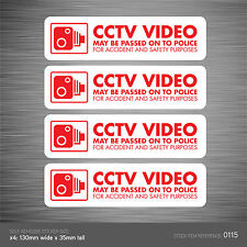 CCTV115 - Set Of 4 In Vehicle Camera Recording Car Sign Sticker - CCTV - Dashcam