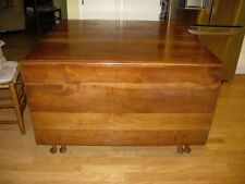 Solid cherry (heart and sap) gate-leg table, four ladder-back chairs