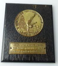 Medaille : II. Deutsches Turn und Sportfest Leipzig 1956 Dank u Annerkennung/330