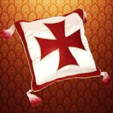 "MEDIEVAL Knight Crusader Middle Ages TEMPLAR CROSS Satin PILLOW CASE 15"" x 15"""