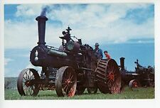 1896 Case Steam Tractor Engine—Vintage GREAT FALLS MT Chrome PC 1960s