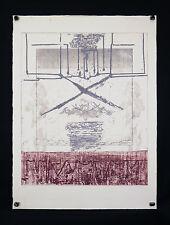 Guy-Henri DACOS(1940-2012)MODERN ART Technique mixte Huy/BELGIQUE BELGIUM BELGA