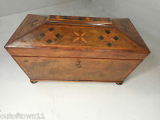 Rare Georgian inlaid Tea Caddy Box  ref 734