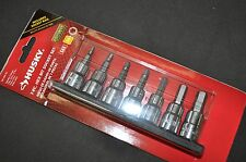 "3/8 in. Drive SAE Hex Bit Socket Set 7 pcs 1/8"",5/32"" to 3/8"" H"