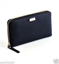 Kate Spade Wallet WLRU1498 Neda Newbury Lane Saffiano Leather Black Agsbeagle