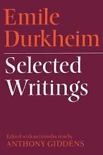 Emile Durkheim - Selected Writings by Anthony Giddens and Emile Durkheim...