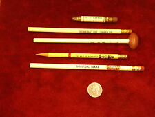 LOT OF 5 OLD VTG PENCILS -- HOUSTON ASTROS, SKELLY OIL, TYLER'S COFFEE SYRUP++++