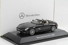 2012 Mercedes-Benz SLS AMG Roadster Obsidianschwarz metallic 1:43 Schuco Dealer