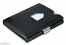 Exentri - Fine Leather Wallet, compact, stylish - Black