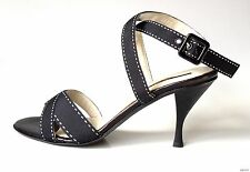 new Armando POLLINI black ankle X-strap sandals heels shoes Italy 35 US 5 - HOT