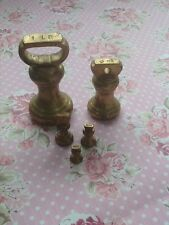 Vintage Brass Bell Weights for Kitchen Scales - Imperial