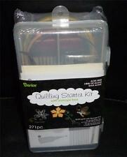 New QUILLING STARTER KIT w/ storage box Comb Paper Ruler Tweezers Curling Coach