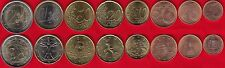 Italy euro full set (8 coins): 1 cent - 2 euro 2002 UNC