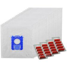 20 x E201 E201B type S-BAG sacs en tissu de la poussière s pour aspirateur PHILIPS + assainisseurs