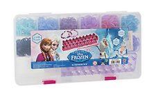 Disney Frozen diseñador Star Telar banda Funda Set - 2400 Bandas De 100 Clips 12 Colores