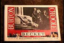 BECKET 1964 LOBBY CARD #1 RICHARD BURTON PETER OTOOLE