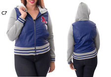 C7 Ladies Blue Plus Size 18/20 Long Sleeves Varsity Baseball Jackets Outerwear