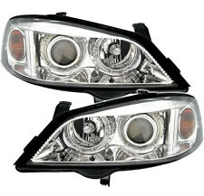 ANGEL EYES Headlights in clear chrome finish for Opel Astra G
