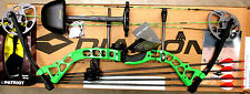Diamond Bowtech PRISM Bow RH Infinite Edge GREEN Package W/QUIVER & EXTRAS