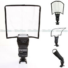 PRO Foldable Reflector Speedlight Snoot /Sealed Beam Tube Flash Softbox Diffuser